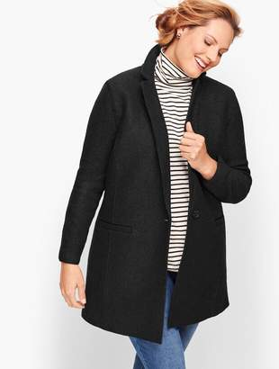 Talbots Plus Size Long Boiled Wool Jacket