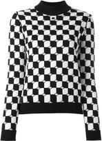 Courreges checked knit jumper