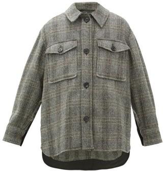 Etoile Isabel Marant Garvey Checked Wool Jacket - Beige