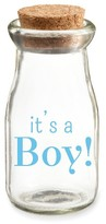 "Kate Aspen Set of 12) Vintage Milk Favor Jar ""It's a Boy"" Blue Pad Print"