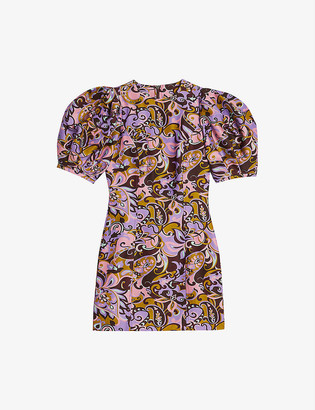 Ted Baker Flickl floral-print cotton and silk-blend mini dress