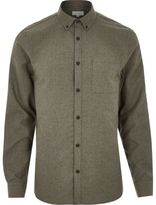 River Island MensGreen flannel shirt