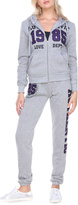 Stanzino Heather Gray 'Authentic' Hooded Jacket & Sweatpants Lounge Set