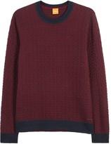 Boss Kuvudo Burgundy Textured-knit Jumper
