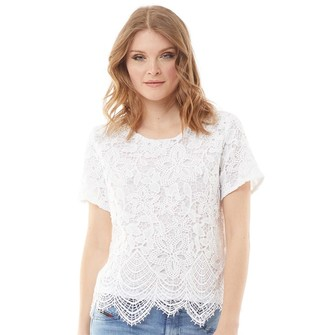Onfire Womens Lace Blouse White