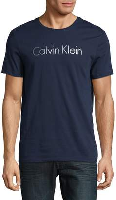 Calvin Klein Textured Cotton Logo Graphic Tee
