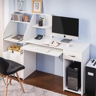 Inbox Zero Computer Desk Color: Gray