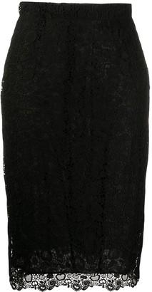 Pinko Fitted Midi Skirt