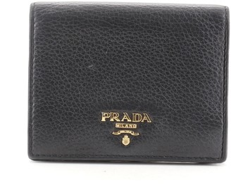 Prada Snap Wallet Saffiano Leather Compact
