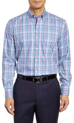 Peter Millar Baker Island Regular Fit Check Button-Down Sport Shirt