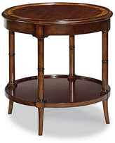 One Kings Lane Vidas Round Side Table - Mahogany