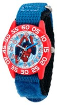 Marvel Boys' Marvel's Ultimate Spider-Man Red Plastic Time Teacher Watch - Blue