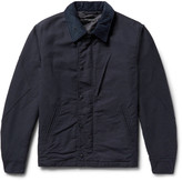 Engineered Garments Corduroy-Trimmed Cotton-Doublecloth Jacket