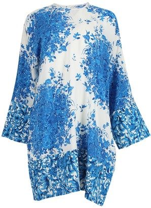 Valentino Delft Print Shift Dress