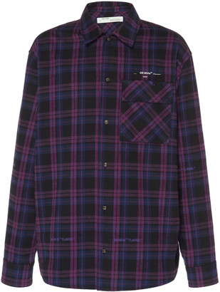 Off-White Logo Checked Flannel Shirt