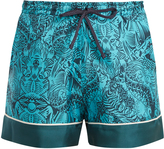 Mary Katrantzou Rook dragon-print silk-twill shorts