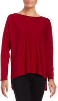 Eileen Fisher Petite Hi-Lo Wool Pullover
