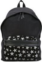 Saint Laurent City backpack - men - Cotton/Calf Leather/Suede - One Size