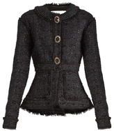 Erdem Karina frayed-edge tweed jacket