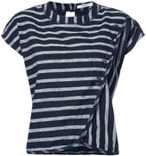 Derek Lam 10 Crosby striped drape front T-shirt