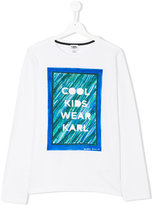 Karl Lagerfeld printed long sleeved T-shirt
