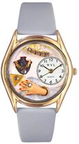 Whimsical Watches Women's C1010008 Classic Gold Jewelry Lover Blue Light Blue Leather And Goldtone Watch