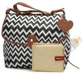 Babymel BabymelTM Zig Zag Satchel Diaper Bag in Black