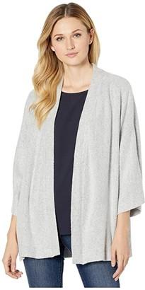 Nally & Millie Kimono Sleeve Cardigan (Heather Grey) Women's Coat