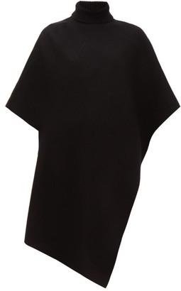 Chloé Roll-neck Cashmere Poncho - Womens - Black
