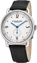 Stuhrling Original Mens Black Strap Watch-Sp16389