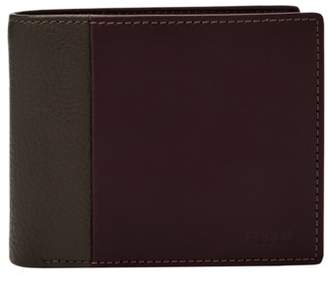 Fossil Ward Rfid Large Coin Pocket Bifold Wallets Dark Brown