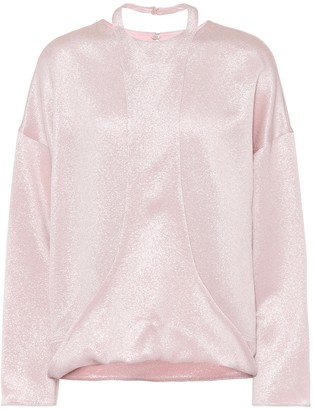 Valentino Hammered lame blouse
