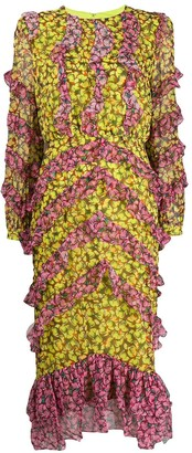 Saloni fantasy floral dress