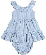 Ralph Lauren Seersucker Dress & Diaper Cover