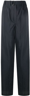 Lemaire Wide-Leg Belted Trousers