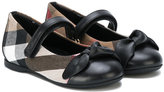 Burberry checkered ballerinas - kids - Cotton/Leather/rubber - 23