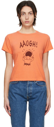 RE/DONE Orange Peanuts Edition Classic Aaugh T-Shirt