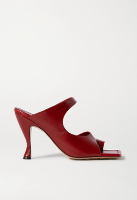 Bottega Veneta Leather Mules - Red