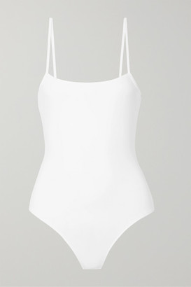 ATM Anthony Thomas Melillo Stretch-pima Cotton Jersey Thong Bodysuit - White