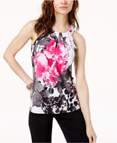 INC International Concepts I.n.c. Floral Keyhole Halter Top, Created for Macy's