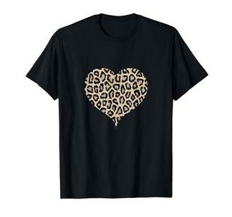 Animal Print T Shirt & Gift Ideas Leopard Print Heart Shirt Cheetah Pattern Hearts Women Gift