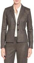 Classiques Entier Two-Button Tweed Suit Jacket (Regular & Petite)