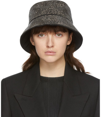 Kara Black Hematite Mesh Bucket Hat