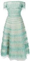 Marchesa Embellished Tulle Dress