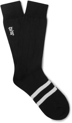 Les Girls Les Boys Logo-Embroidered Striped Cotton-Blend Socks