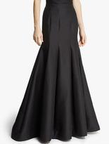 Halston Silk Faille Structured Skirt