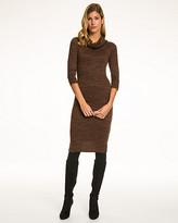 Le Château Melange Knit Cowl Neck Dress