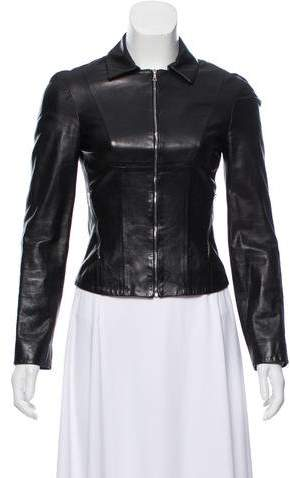 Narciso Rodriguez Collared Leather Jacket