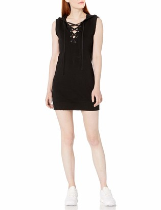 Pam & Gela Women's Hooded Lace Up Dress