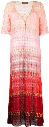 Missoni Mare Striped Knitted Maxi Dress